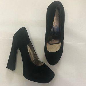 Jeffrey Campbell Eva 2 Black Suede Heels Size 10